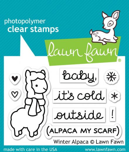 LF0981 S ~ WINTER ALPACA ~ CLEAR STAMPS BY LAWN FAWN